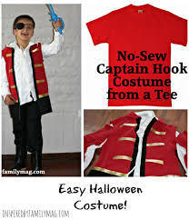 Red Shirt Halloween Costume Sew Captain Hook Costume Shirt Inspired Family