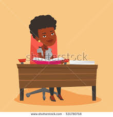 Picture Of Student Sitting At Desk Asian Student Sitting Desk Raised Hand Stock Vector 589797704