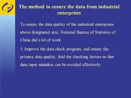 china statistics bureau ensure the quality of the data national bureau of statistics of