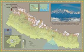 Himalayan Mountains Map Nepal Tourist Map