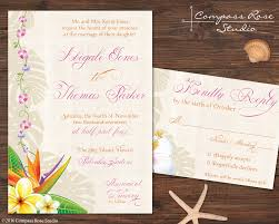 elopement invitations compass studio honu oahu elopement announcement