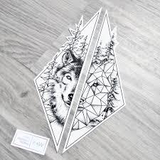 forearm wolf tattoos geometric tattoo u2026 pinteres u2026