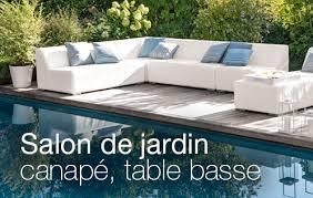 canape de jardin salon de jardin bas canapé table basse jardinerie truffaut