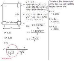 optimization word problems worksheet calculus optimization