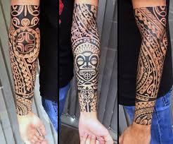 popular tribal forearm tattoos golfian com