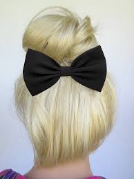 hair bow tie black hair bow clip black bow black bowtie bow hair clip