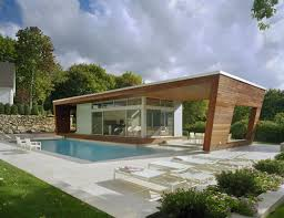 stunning look of modern mediterranean house wioth brown wood