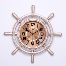 living room wall clocks wood metal hanging silent round vintage
