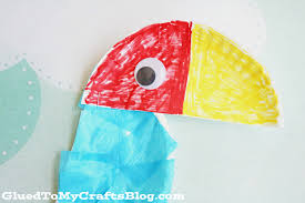 paper plate parrot kid craft glued to my crafts