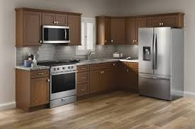 kitchen cabinets and countertops at menards cardell designer collection lakeridge 19 l kitchen