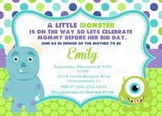 free monster baby shower invite template cute shower ideas
