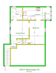 One Bedroom Apartments Iowa City Prestige Properties Llc 206 E Bloomington Apt 1 1br 1ba