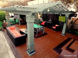 outdoor room original design pergola spa fireplace pool table
