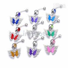 2018 butterfly belly button navel rings jewelry stainless