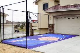 Backyard Basketball Hoops by Fitting A Home Basketball Court In Your Backyard Sport Court