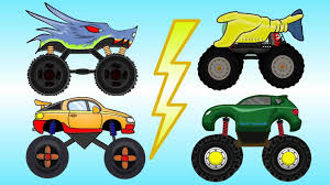 youtube monster truck videos bambini video educational big for kids bazylland animacje youtube