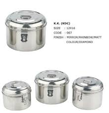 stainless steel canisters puri dabba with hinges for food