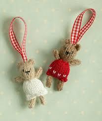 little cotton rabbits christmas tree decorations