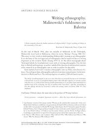 how to write an ethnographic research paper writing ethnography malinowski s fieldnotes on baloma pdf writing ethnography malinowski s fieldnotes on baloma pdf download available