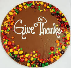 give thanks then eat chocolate thanksgiving dessert idea