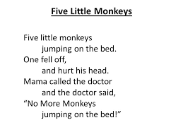 No More Monkeys Jumping On The Bed Song Edge Institute Songs And Chants June Ppt Download