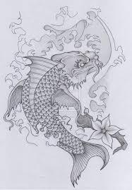 japanese koi fish n flower tattoo design photo 2 photo