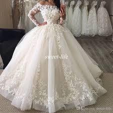 poofy wedding dresses sleeve wedding dresses 2017 white tulle