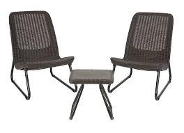 Jaavan Patio Furniture by Keter Rio 3 Pc All Weather Outdoor Patio Garden Conversation Chair