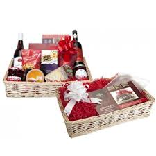 Christmas Basket Christmas Hamper Small Christmas Wicker Basket In Cellophane