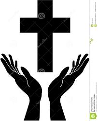 cross and praying careing stock vector illustration of human