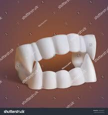 fake vampire teeth fangs halloween costume stock vector 154458347