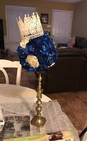 quinceanera centerpiece blue fabric flower centerpiece gardening flower and vegetables