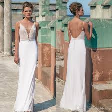 spaghetti wedding dress spaghetti straps wedding dresses sheer plunging neckline