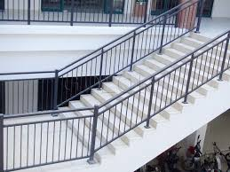 Steel Handrails For Steps Stairs Marvellous Metal Handrails For Outdoor Steps Stunning