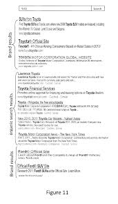 toyota company information patente us20120254149 brand results ranking process based on