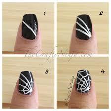 diy spider web nail art images
