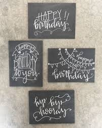 chalkboard birthday card set of four handlettered modern calligraphy chalkboard inspired