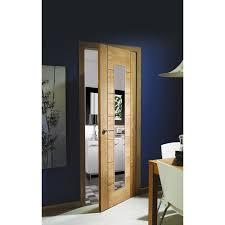 Glass Fire Doors by Joinery Palermo Oak 1 Light Internal Fire Door With Clear Glass
