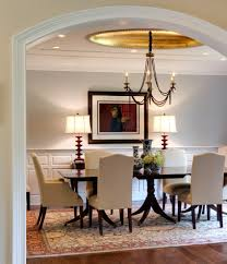Dining Room Lamps by Dining Room Chandeliers Transitional With Wallpaper Gold Shade