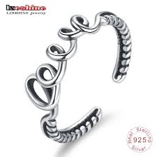 love rings silver images Discount lzeshine 100 925 sterling silver love adjustable rings jpg