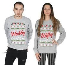 christmas hers hubby matching christmas sweater top jumper sweatshirt