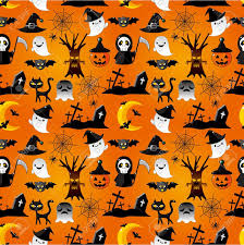 cartoon halloween seamless pattern royalty free cliparts vectors