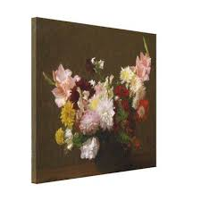 style flower victoria dubourg vintage flowers canvas print floral style flower