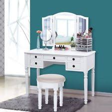 Vanity Table With Tri Fold Mirror Songmics Vanity Set Tri Folding Mirror Make Up Dressing Table