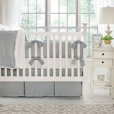 Gray Baby Crib Bedding Gray Linen Crib Bedding Gray Baby Bedding Neutral Nursery Bedding