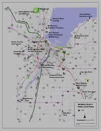 Wisconsin Railroad Map by Brown County Departments Parks Department Location Map