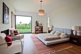 Mid Century Bedroom Platform Bed Mid Century Bedroom Contemporary With Textured