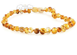 natural amber necklace images Baltic amber teething necklace for children screw clasp png