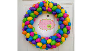 how to make an easter egg wreath easter egg wreath