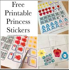 free printable princess planner stickers